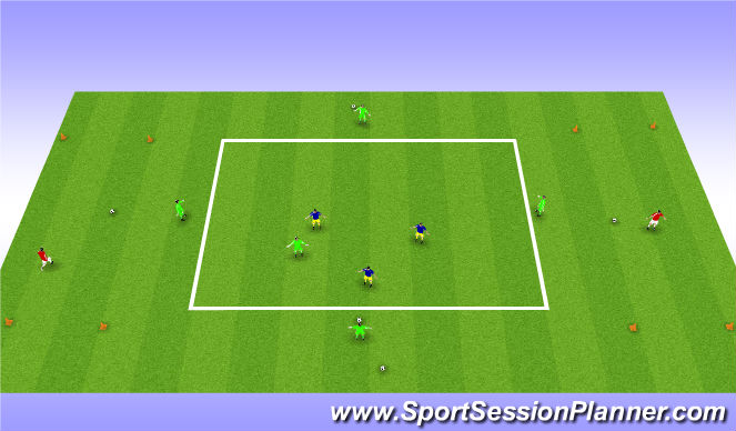 Football/Soccer Session Plan Drill (Colour): Possession With Forward Progression