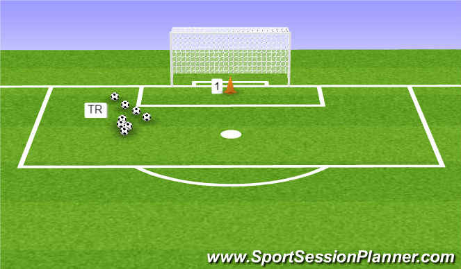 Football/Soccer Session Plan Drill (Colour): Oefening 4