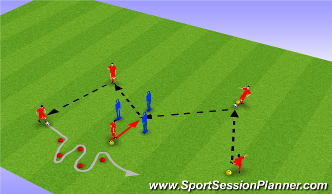 Football/Soccer Session Plan Drill (Colour): Polygon Passing