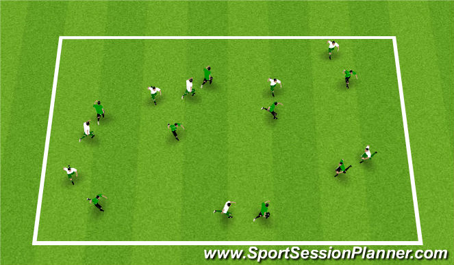 Football/Soccer Session Plan Drill (Colour): Foxes and Rabbits