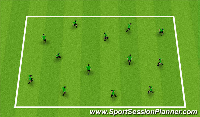 Football/Soccer Session Plan Drill (Colour): Soccer City