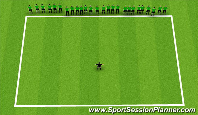 Football/Soccer Session Plan Drill (Colour): What's the time Mr Wolf?