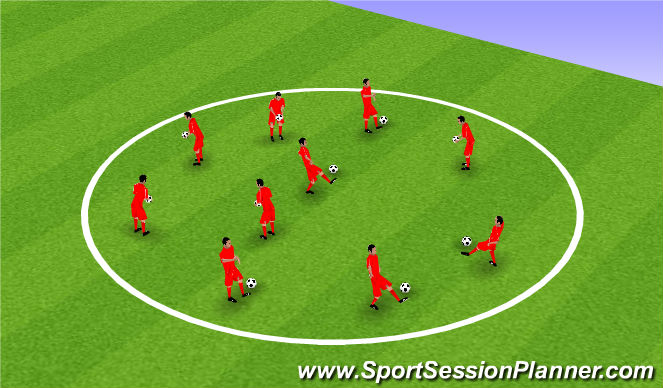 Football/Soccer Session Plan Drill (Colour): High Foot Juggling