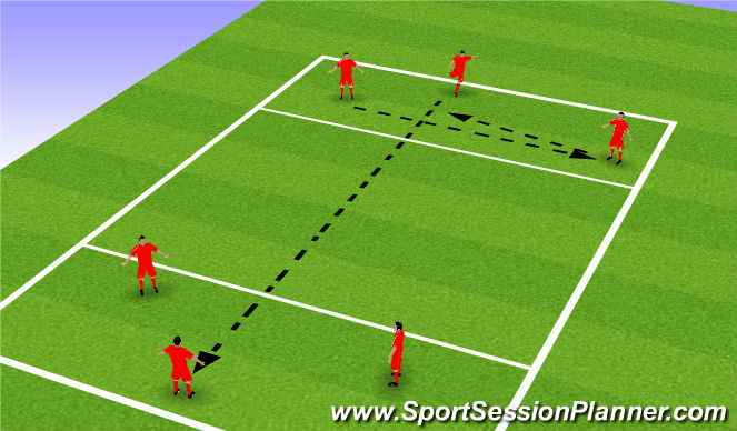 Football/Soccer Session Plan Drill (Colour): Short short long