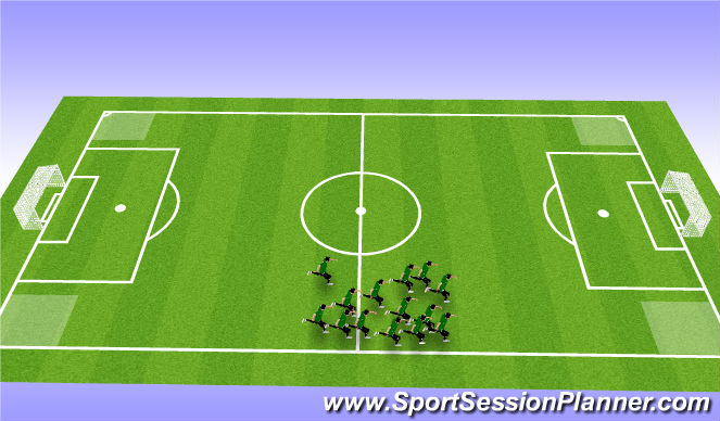 Football/Soccer Session Plan Drill (Colour): Social Warmup