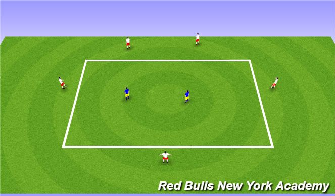 Football/Soccer Session Plan Drill (Colour): Arrival - warm up