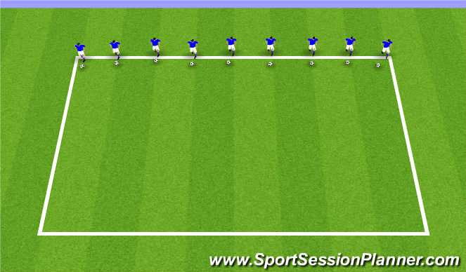 Football/Soccer Session Plan Drill (Colour): ODP U11-U12 9:00-10:00