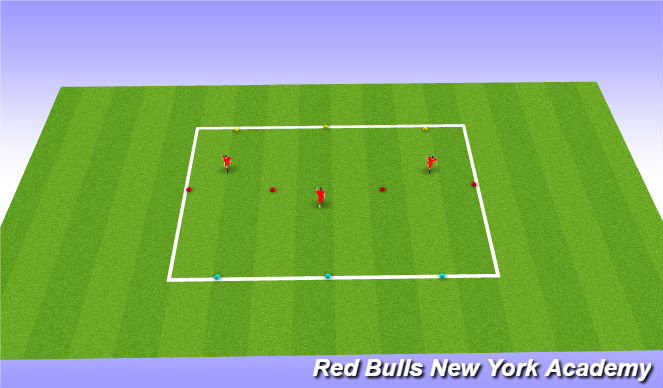 Football/Soccer Session Plan Drill (Colour): inside outside unopposed