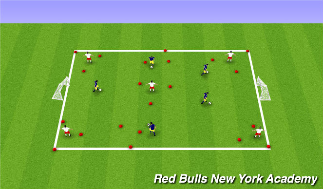 Football/Soccer Session Plan Drill (Colour): theme in 1