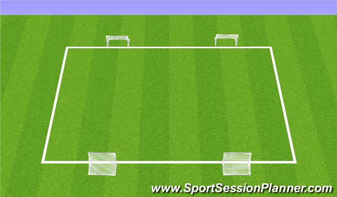 Football/Soccer Session Plan Drill (Colour): SSG with Goals