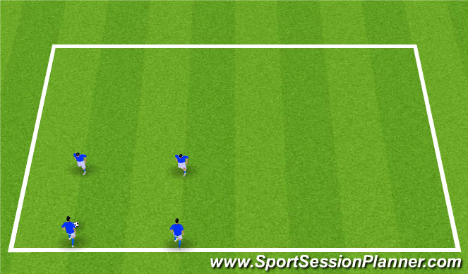 Football/Soccer Session Plan Drill (Colour): 4. Ball Striking