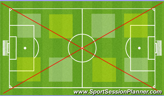 Football/Soccer Session Plan Drill (Colour): Layout N