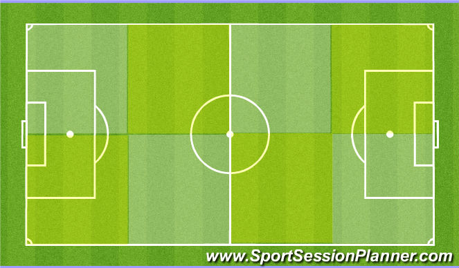 Football/Soccer Session Plan Drill (Colour): Layout Y