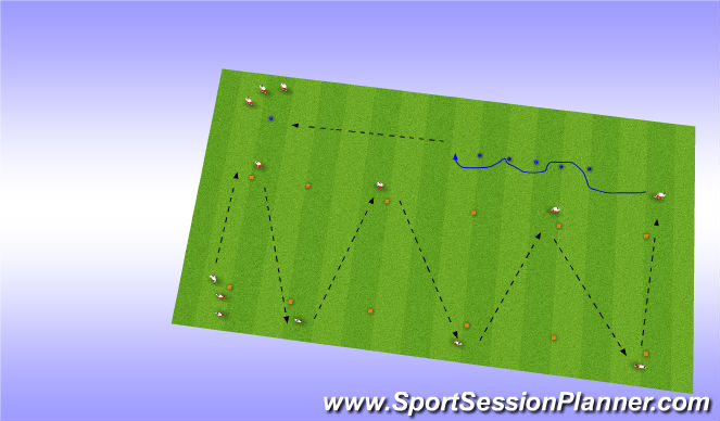 Football/Soccer Session Plan Drill (Colour): Pass