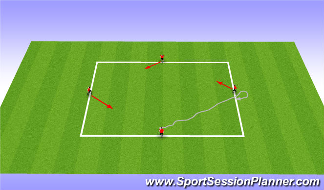 Football/Soccer Session Plan Drill (Colour): Skill Square