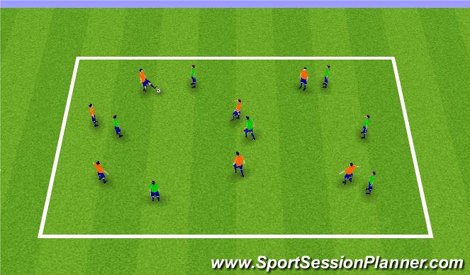 Football/Soccer Session Plan Drill (Colour): Possession Endline Game