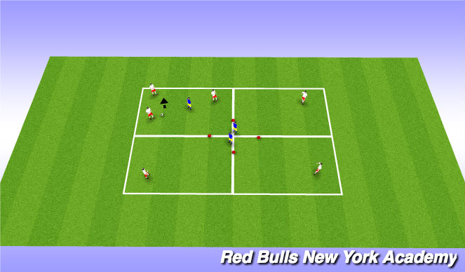 Football/Soccer Session Plan Drill (Colour): Possession 1 (2nd option)