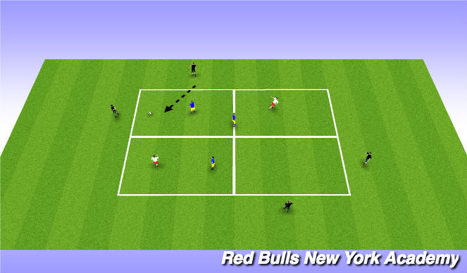 Football/Soccer Session Plan Drill (Colour): possession 2 (option 2)