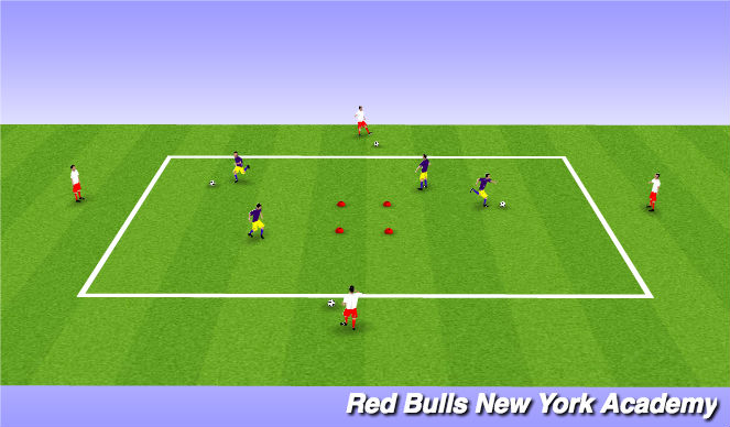 Football/Soccer Session Plan Drill (Colour): Passing with movement 2/2