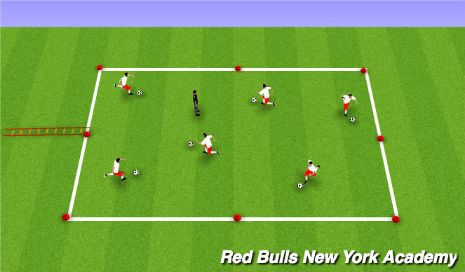 Football/Soccer Session Plan Drill (Colour): Tail Tag