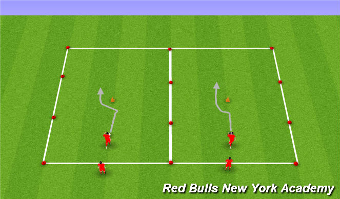 Football/Soccer Session Plan Drill (Colour): Roll Move