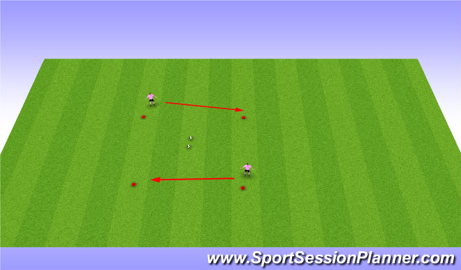 Football/Soccer Session Plan Drill (Colour): Introductory Activity