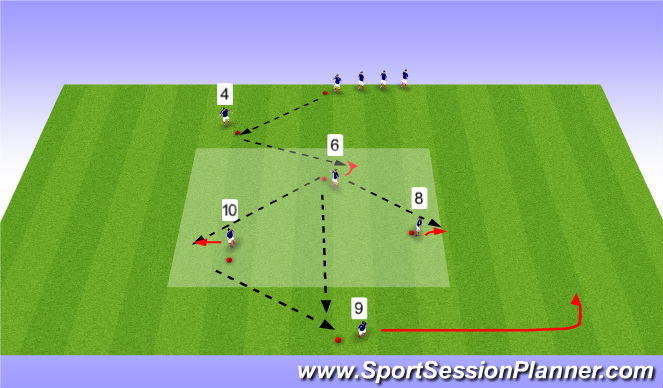 Football/Soccer Session Plan Drill (Colour): Passing Exercise - opening