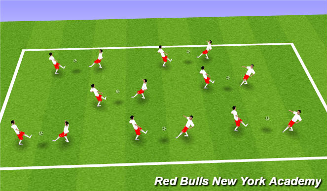 Football/Soccer Session Plan Drill (Colour): Warm Up - Juggling
