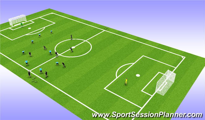 Football/Soccer Session Plan Drill (Colour): Stage 4 - Scrimmage