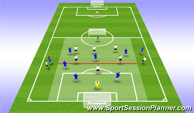 Football/Soccer Session Plan Drill (Colour): EXPANDE ACTIVITY