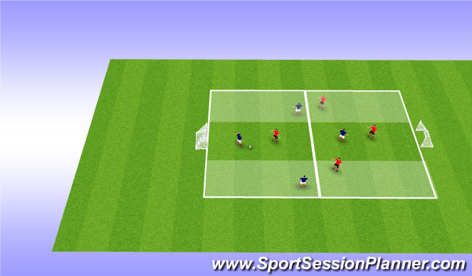 Football/Soccer Session Plan Drill (Colour): 4v4 Conditioned Game 2