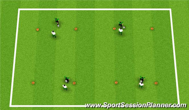 Football/Soccer Session Plan Drill (Colour): Activity 1: Chelsea 1v1's