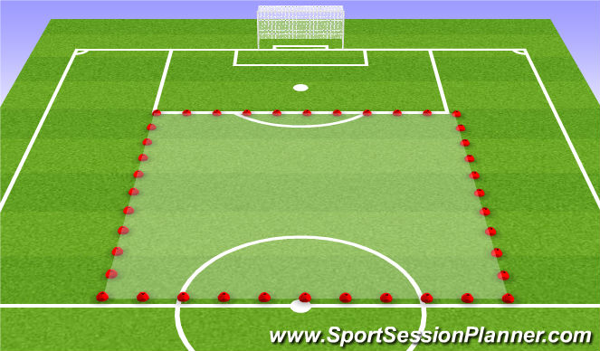 Football/Soccer Session Plan Drill (Colour): Day at the Zoo