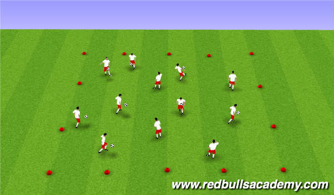 Football/Soccer Session Plan Drill (Colour): Juggling & Ball Mastery
