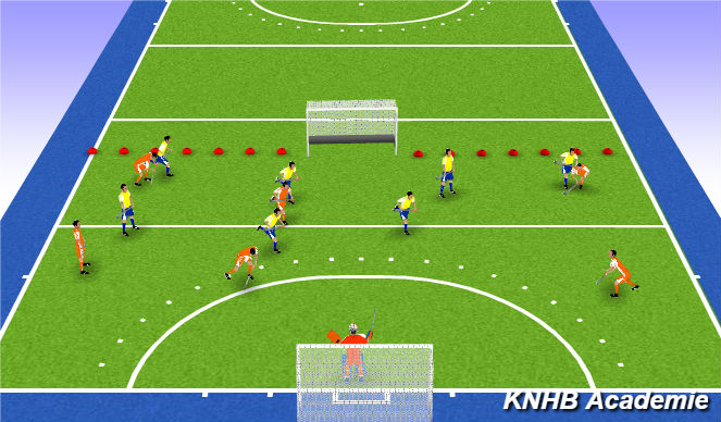 Hockey Session Plan Drill (Colour): Eindpartij