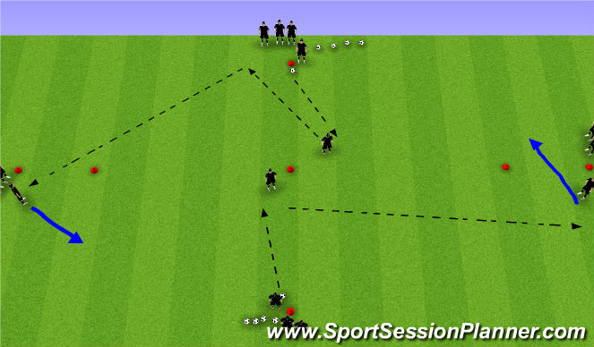 Football/Soccer Session Plan Drill (Colour): Passing Diamond (SPOA)
