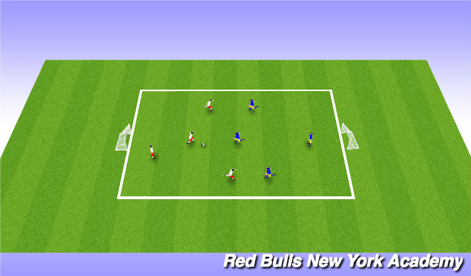Football/Soccer Session Plan Drill (Colour): 3 vs 3 tournament