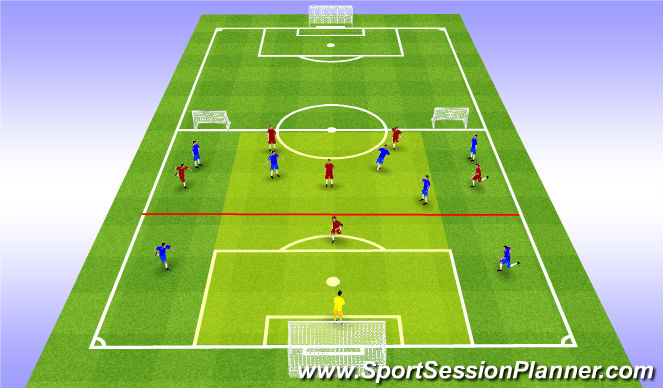 Football/Soccer Session Plan Drill (Colour): SSG I