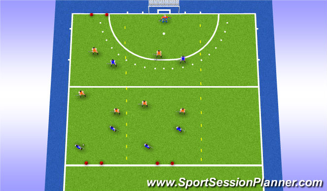 Hockey Session Plan Drill (Colour): Regels zijn regels