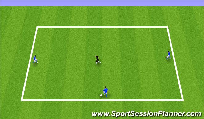 Football/Soccer Session Plan Drill (Colour): 3v1 (Arrival Game)
