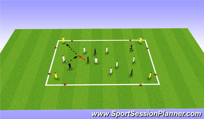 Football/Soccer Session Plan Drill (Colour): Corner Goals Game