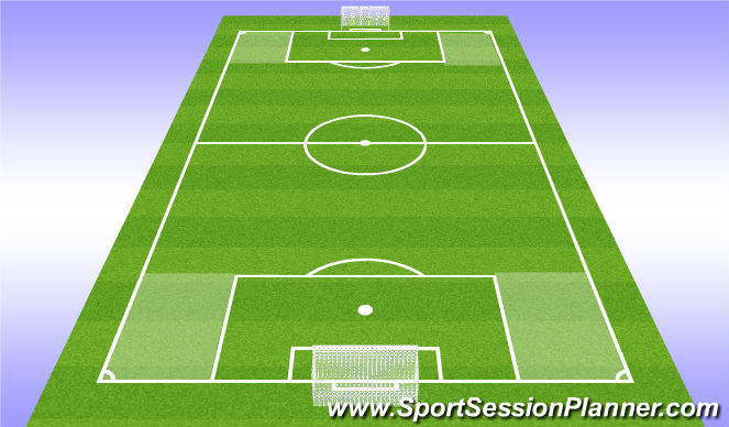 Football/Soccer Session Plan Drill (Colour): 11v11 Summer