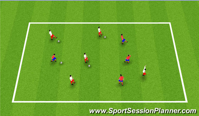 Football/Soccer Session Plan Drill (Colour): Warm up - ball control