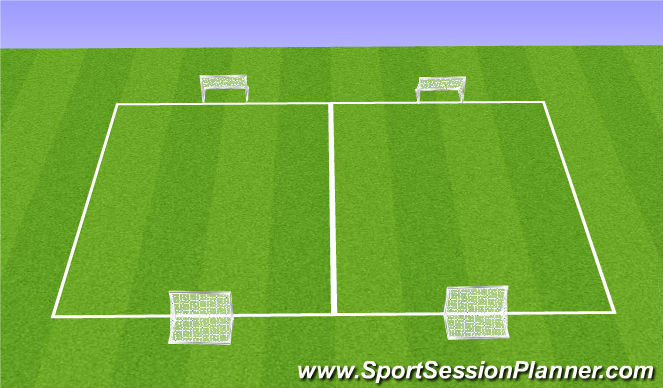 Football/Soccer Session Plan Drill (Colour): SSG - 3 v 3