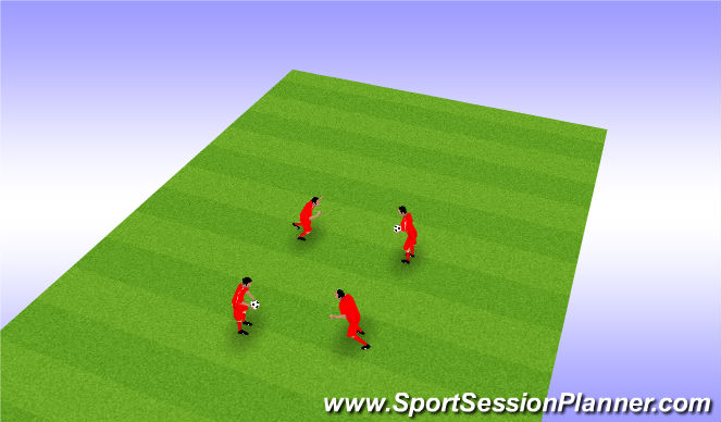 Football/Soccer Session Plan Drill (Colour): Partners Heading