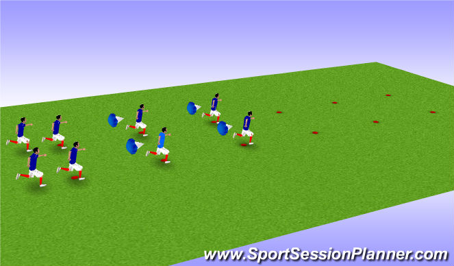Football/Soccer Session Plan Drill (Colour): FIFA 11+