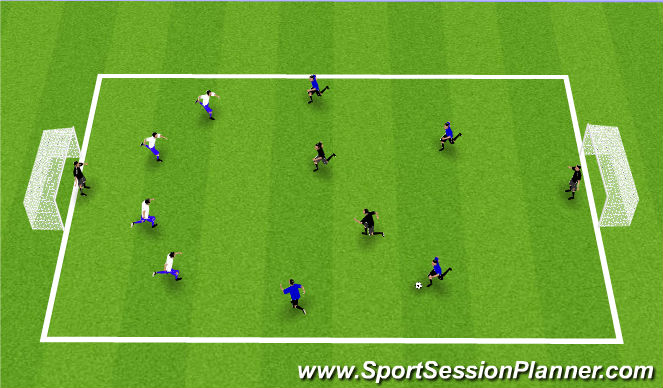 Football/Soccer Session Plan Drill (Colour): Loser becomes neutral