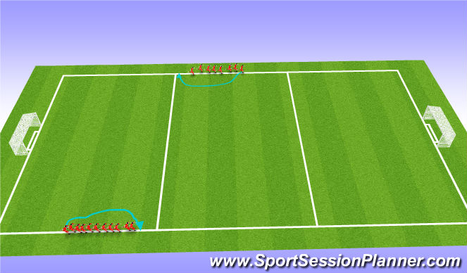 Football/Soccer Session Plan Drill (Colour): Indian Run