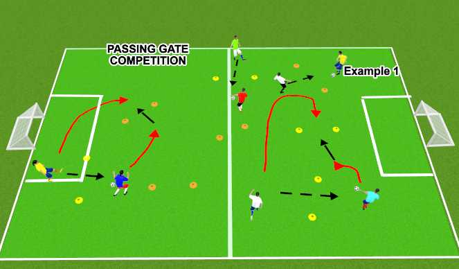 Football/Soccer Session Plan Drill (Colour): Window Competition