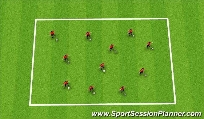 Football/Soccer Session Plan Drill (Colour): Coerver remaining time
